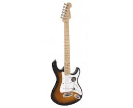 """RICHWOOD REG-320-2SB - Guitare électrique """"Santiago Standard"""", type strat, Corps Oukoume, Manche érable canadien touche érable,"""