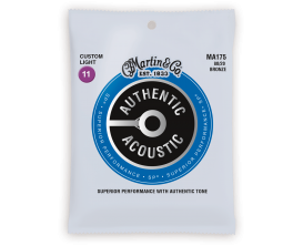 MARTIN STRINGS MA175 - Jeu de cordes Folk SP 80/20 Bronze Authentic, Custom Light 011/052