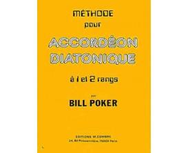 Méthode d'accordéon diatonique à 1 et 2 rangs - B.Poker - éd. Combre