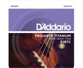D'ADDARIO EJ87C - Jeu de cordes Titanium Ukulele, Concert