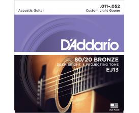 D'ADDARIO EJ13 - Jeu de cordes Folk Bronze, Tirant Light 11-52
