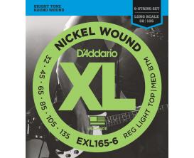 D'ADDARIO EXL165-6 - Jeu de 6 cordes basse, tirant Medium 32-50-70-85-105-135
