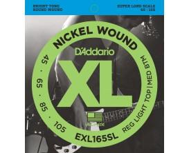 D'ADDARIO EXL165SL - Jeu de 4 cordes Basse Super Long Scale, tirant Soft 45-65-85-105