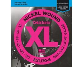 D'ADDARIO EXL170-6 - Jeu de 6 cordes basse, tiran Soft 32-45-65-80-100-130