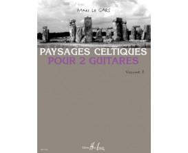 LIBRAIRIE - Paysages Celtiques, version pour 2 Guitares, Vol.1, M. Le Gars - (Ed. Lemoine)