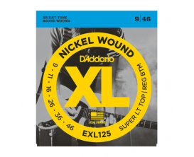 D'ADDARIO EXL125 - Jeu de cordes pour guitare électrique, tirant Super Light Top/ Regular Bottom 09-11-16-26-36-46
