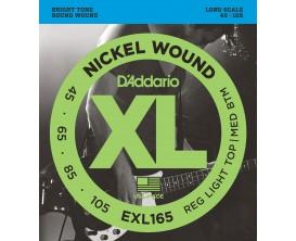 D'ADDARIO EXL165 - Jeu de 4 cordes basse, tirant Soft/Regular 45-65-85-105