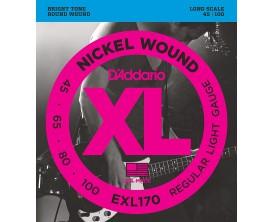 D'ADDARIO EXL170 - Jeu de 4 cordes basse, tirant Soft 45-65-80-100, Long Scale