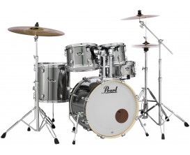 "PEARL EXX705NBR/C21 - Export Drum Kit 5 pces, version Grosse Caisse 20"", avec Hardware et cymbales Sabian SBR - Smokey Chrome"