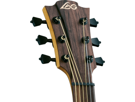 LAG T200D - Guitare Acoustique Dreadnought, Table cèdre rouge massif, corps Khaya tropical, Touche palissandre