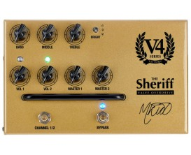 "VICTORY AMP Sheriff Pedal - Pédale Préampli ""The Sheriff"" à lampes, Made in UK"