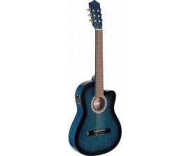 STAGG C546TCE-BLS - Guitare électro-acoustique classique cutaway, caisse fine, EQ 4 bandes (design B-Band) , Blueburst