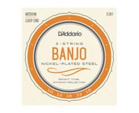 D'ADDARIO EJ61 - Jeu de cordes en nickel pour Banjo 5 cordes 10-23 Medium, à boucles