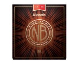 D'ADDARIO NB1356 - Jeu de cordes Folk Nickel Bronze, Tirant Medium 13-56
