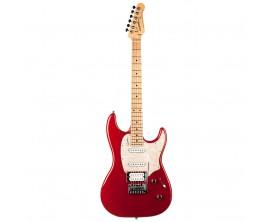 GODIN Session Desert Red Limited Edition - Guitare type Strat, Série limitée, 2 Simples Godin + 1 Humbucker Seymour SH-11, Deser