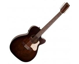 ART&LUTHERIE Legacy 12 CW QIT Bourbon Burst - Guitare électro-acoustique 12 cordes Format Concert, Pan coupé, Préampli QIT, Fini
