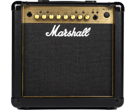 MARSHALL MG15GFX - Combo 15 Watts MG Gold, avec section effets (Chorus, Delay, Phaser, Flanger)