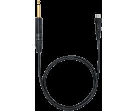 SHURE WA305 - Câble haut de gamme pour emetteur HF, jack droit / connecteur TA4F avec blocage