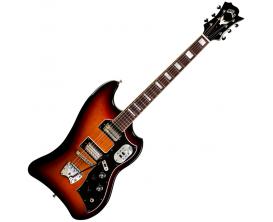 GUILD T-Bird S200 AB - Guitare solidbody, Corps et manche acajou, 2 micros humbuckers LB-1, Hagstrom vintage tremar tremolo, Ant