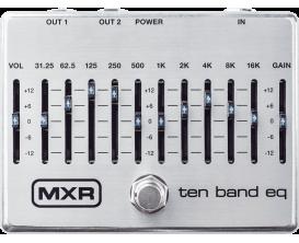 MXR M108S - Pédale EQ 10 bandes, nouvelle version 2019 Silver