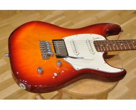 GODIN Session Cherry Burst HG RN - Guitare type Strat, 2 simples + 1 humbucker Godin, Manche érable, Touche palissandre, Finitio