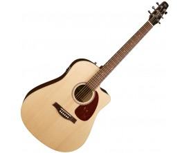 SEAGULL Coastline Slim CW QIT - Guitare électro-acoustique pan coupé, Tablé épicéa massif, Naturel, avec Gig Bag