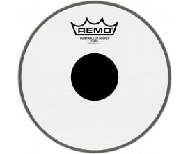 """REMO CS-0310-10 - Peau CS Transparente 10"""" + rond noir, pour Tom/ Caisse claire"""