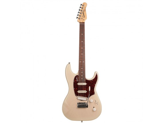 GODIN Progression Plus Trem Cream HG RN - Guitare type Strat, 2 simples + 1 humbucker Godin, Maple Neck, Finition BlackBurst Bri