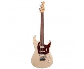 GODIN Progression Plus Trem Cream HG RN - Guitare type Strat, 2 simples + 1 humbucker Godin, Maple Neck, Finition BlackBurst Bri