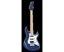 CORT G250DX TB2 - Guitare électrique, Corps Tilleul, table érable pommelé touche érable, micros SSH, Vibrato Vintage 2 points, T