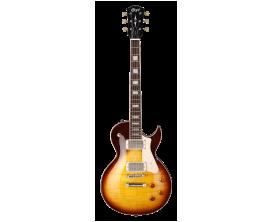 CORT CR250 VB2 - Guitare électrique, Corps Acajou, table érable ondé, touche palissandre, micros HH, Cordier T.O.M., Vintage Bur