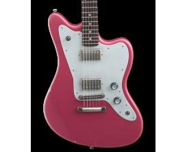 MAYBACH Jazpole '63 Burgundy Mist Aged - Guitare électrique J-Style, Corps peuplier, Manche érable, Touche palissandre Indien,