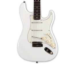MAYBACH Stradovari S61 Olympic White Aged - Guitare type Strat , Corps Swamp Ash, Manche érable, Touche Palissandre, Micros Cust