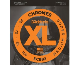 D'ADDARIO ECB82 - Jeu de 4 cordes basse filet plat Chrome Regular, tirant 50-70-85-105