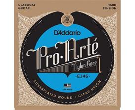 D'ADDARIO EJ46 - Jeu de cordes guitare classique Pro Arte, Tirant fort