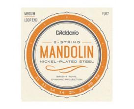 D'ADDARIO EJ67 - Jeu de cordes pour Mandoline, Nickel, Tirant Medium 11-14-25-39