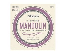 D'ADDARIO EJ70 - Jeu de cordes Mandoline à Boules, Light, Phosphor Bronze