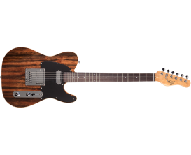 MICHAEL KELLY 1955 Striped Ebony - Guitare électrique type Tele, Corps en Swamp Ash, Table Striped Ebony, Manche érable, Touche