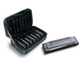 HOHNER M91105 - Pack de 7 Harmonicas Blues Band avec étui rangement (do, ré, mi, fa, sol, la, sib)