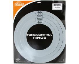 """REMO RO-0246-00 - Set d'anneaux atténuateurs d'harmoniques (RemOs sound control rings) : 1 x 10"""", 1 x 12"""", 1 x 14"""", 1 x 16"""""""