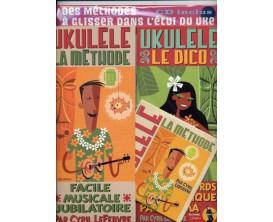 LIBRAIRIE - Ukulélé La méthode + Le dico, avec CD - C. Lefebvre (Ed. JJ Rebillard)