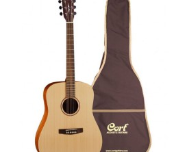 CORT Earth Grand GOPG2 - Guitare Dreadnought, table épicéa Sitka massif, corps acajou, Natural Open Pores