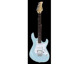 CORT G250 BBL2 - Guitare électrique, Corps Tilleul, touche Jatoba, micros SSH, Vibrato Vintage 2 points, Plaque nacrée, Baby Blu