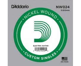 D'ADDARIO NW024 - Corde seule avec filet rond en nickel pour guitare électrique 0.24