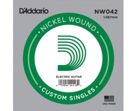 D'ADDARIO NW042 - Corde seule avec filet rond en nickel pour guitare électrique 0.42