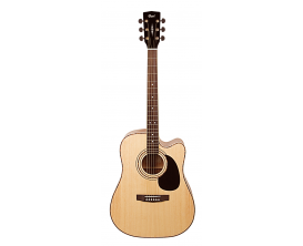 CORT AD880 CE NS2 - Guitare dreadnought électro-acoustique, pan coupé, table épicéa, corps acajou, naturel satin