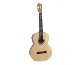 JUAN SALVADOR 7A - Guitare Classique 4/4, Table épicéa massif, Corps noyer, Naturel brillant