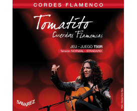 SAVAREZ T50R - Jeu de 6 cordes pour guitare classique Flamenco, Tomatito, Tirant Normal