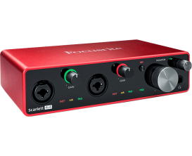 FOCUSRITE Scarlett 3 4i4 - Interface audio 4 in / 4 out, 3ième génération