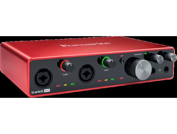 FOCUSRITE Scarlett 3 8i6 - Interface audio 8 in / 6 out, 3ième génération